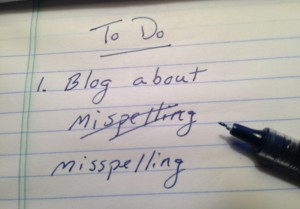 To do: Write blog about spelling