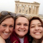 Ali, Liz, and Val in front of the Parthenon. Photo credit Valeria Gomez.