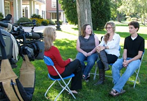CBS News Interviews Students on Youth Vote