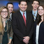 Mark Halperin and Saint Anselm College Students