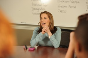 CNN's Jessica Yellin meets with Saint Anselm students