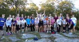 "Anselmians on the summit of the ""March for Babies"" hike"